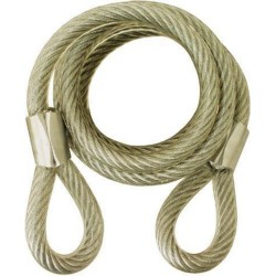 Abus 86/66/46 Flexible Coiled Steel 6' Security Cable