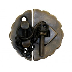 Gado Gado HLA1012 Round Scalloped Latch w/ Chain