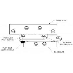 Adams Rite B1921 & B1923 Full Surface Reinforcing Pivots for Flush Doors