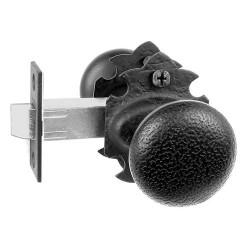 Acorn RT Latch, Rough Iron Double Knob