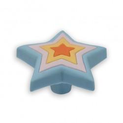 SIRO 107-H157 Popsicle Flex Star KNOB in Blue / Lilac / Yellow / Orange