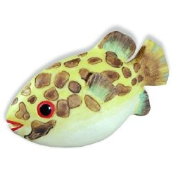 SIRO H027-67 Caribe Yellow & Brown Speckle Fish KNOB