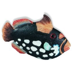 SIRO H026-67 Caribe Black & WhiteSpeckle Fish KNOB