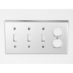 A'dor Traditional Outlet & 3 Switch Switchplate