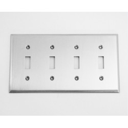 A'dor Traditional Quad Switch Switchplate