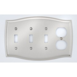 A'dor Colonial Outlet & 3 Switch Switchplate
