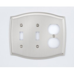 A'dor Colonial Outlet & 2 Switch Switchplate