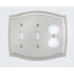 A'dor Rope Outlet & 2 Switch Switchplate