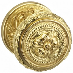 Omnia 260-00 Floral Knob With Beaded Rose
