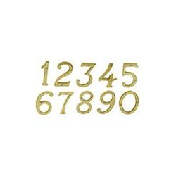 """Ives 30X6 4"""" Classic House Number Brass"""