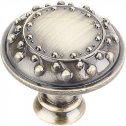 """Venezia 1-1/4"""" Diameter Zinc Die Cast Nouveau Cabinet Knob"""