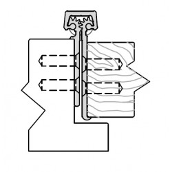 """ABH A140 Aluminum Continuous Geared Hinge Fully Concealed 3/32"""" Inset w/Door Lip Protector"""