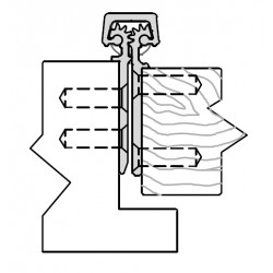 """ABH A160 Aluminum Continuous Geared Hinges Fully Concealed 3/32"""" Inset"""