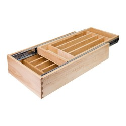 "Hardware Resources 15"" Reduced Height Double Cutlery Drawer 11-1/2"" W x 21""D x 3-3/4""H"