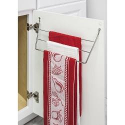Polished Chrome Door Mount 3-Tier Dishcloth Rack