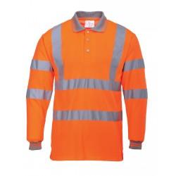 Portwest S277 Hi-Vis Polo Shirt Long Sleeved