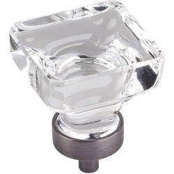 "Harlow 1 3/8"" Glass Square Cabinet Knob"