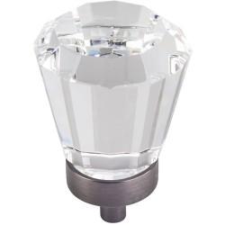 "Harlow 1 1/4"" Dia Glass Tapered Cabinet Knob"