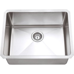 Hardware Resources HMS Stainless Steel (16 Gauge) Fabricated Kitchen Sink