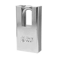 "A5300D American Lock  Rekeyable Shrouded Solid Steel Padlock 1-3/4"" (44mm) (Commercial Carding)"