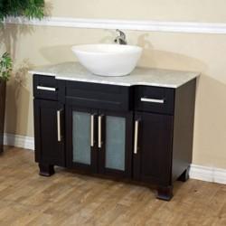 "Bellaterra 604023C 40 In Single Sink Vanity - Dark Mahogany - 40x23x34.5"""