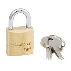 "Master Lock 4120KA  Keyed Alike Economy Brass Series Padlock 3/4"" (19mm)"