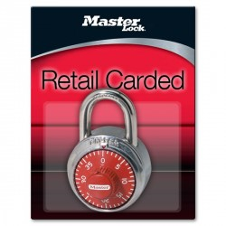 Master Lock 1504D Combination Padlock (Red Dial)
