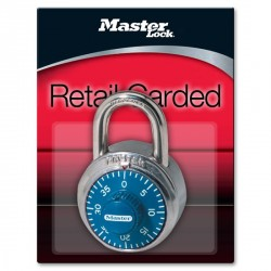 Master Lock 1506D Combination Padlock (Blue Dial)