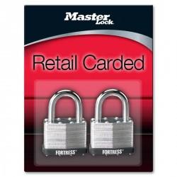 "Master Lock 1805T Fortress Series Laminated Steel Pin Tumbler Padlock, 2"" (51mm) 2-pack"