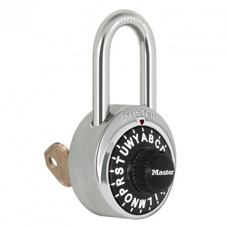 Master Lock 1585LF Letter Lock Combination Padlock with Key Control