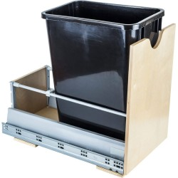"""Hardware Resources Preassembled 35 Quart Single Pullout Waste Container System Featuring 21"""" Undermount System"""