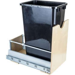 """Hardware Resources Preassembled 50 Quart Single Pullout Waste Container System Featuring 21"""" Undermount System"""