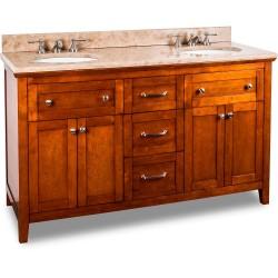 Jeffrey Alexander VAN090D  Vanity with Chocolate Finish and Shaker Design
