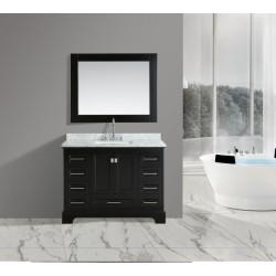 "OMEGA 48"" Single Sink Vanity Set in Espresso"