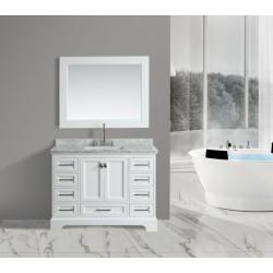 "OMEGA 48"" Single Sink Vanity Set in White"