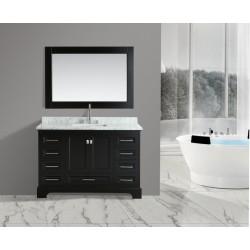 "OMEGA 54"" Single Sink Vanity Set in Espresso"