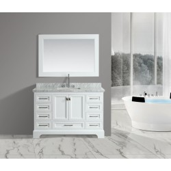 "OMEGA 54"" Single Sink Vanity Set in White"