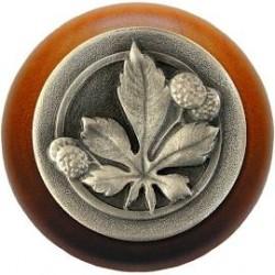 Notting Hill NHW-743 Horse Chestnut Wood Knob 1-1/2 diameter