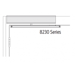 Falcon 8200 Series Pull Side (STD), Aluminum Finish