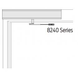 Falcon 8200 Series Push Side (REG), Aluminum Finish