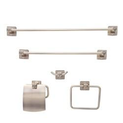 Dyconn Faucet BRN5SET-AB Reno Series Euro Bathroom Set, Antique Brass, 5 Piece