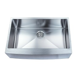 BOANN SKR3322 Hand Made Skirt Front R15 Single Bowl 33 x 22 1/4-Inch Undermount 304 Stainless Steel Kitchen Sink
