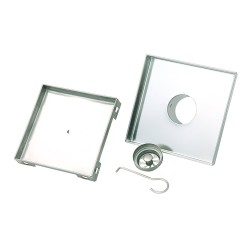 "BOANN BNSDC16 Contemporary/Modern Invisible Style 304 Tile Insert Square Shower Drain, 6"" X 6"", Brushed Stainless"