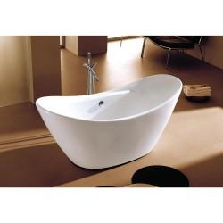 Dyconn DYF-WTM-02701-R Siena 5.7 ft. Acrylic Slipper Flatbottom Non-Whirlpool Bathtub in White