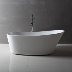 Dyconn DYF-WTM02803-NM Benerento 5.7 ft. Acrylic Slipper Flatbottom Non-Whirlpool Bathtub with Oval in White