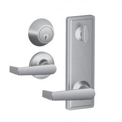 Schlage JI18/19 Marin Lever Interconnect Passage Lock with Keyed Deadbolt - Satin Stainless Steel