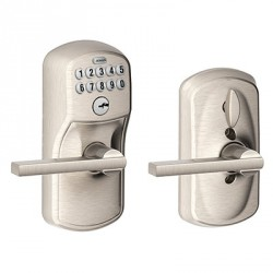 Schlage Plymouth Keypad Entry Lock with Latitude Lever and Flex Lock