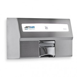 AJW Commercial Washroom Accessories U1521EA JETAIR Automatic Touchless 120/230 Volt Hand Dryer, Satin Finish - Surface Mounted