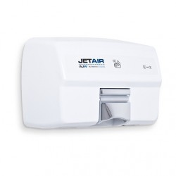 AJW Commercial Washroom Accessories U1525EA JETAIR Automatic Touchless 120 Volt Hand Dryer, White Powder Coat - Surface Mounted