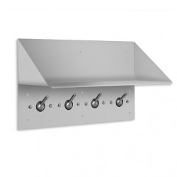 "AJW US52 Collapsible Security Hook Strip & Shelf 18""L, 4 Hooks, Exposed Mounting - Surface Mounted"